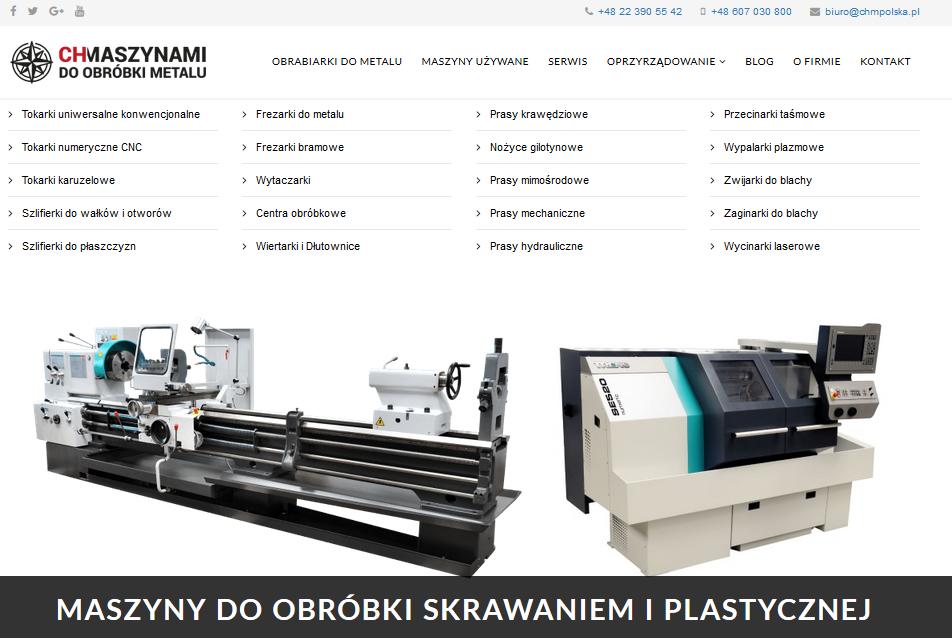 Obrabiarki do metalu - maszyny do obróbki plastycznej i skrawaniem metali