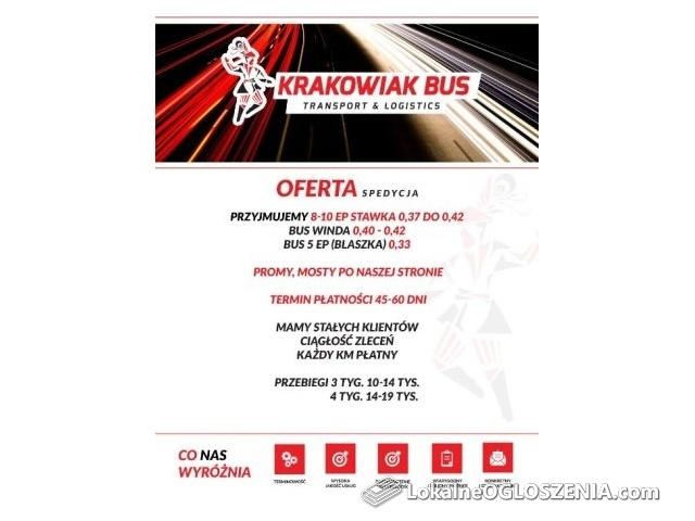BUS - Spedycja poprowadzi bus do 3,5 t 3 miejsca wolne