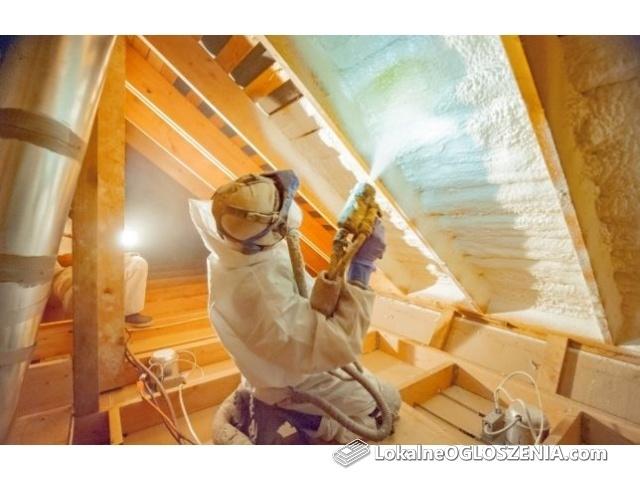 Docieplanie i naprawa poddasza, stropy,ściany,dachy,CELULOZA,PIANA PUR
