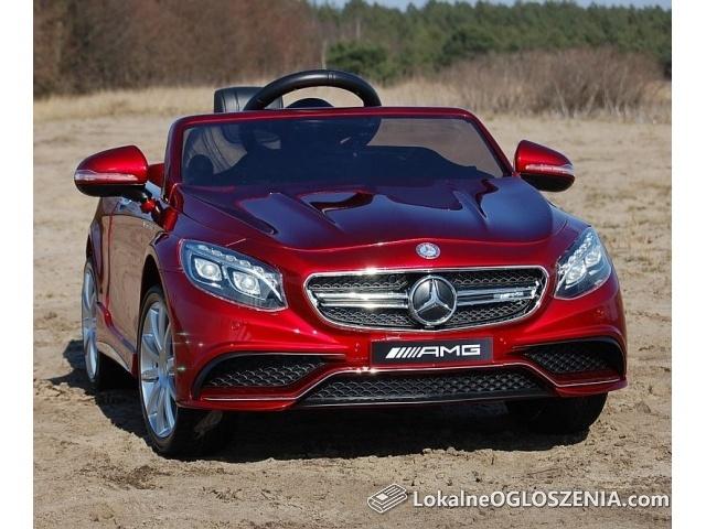 Mercedes s63 amg na akumulator 2x45w koła eva LICENCJA skóra!