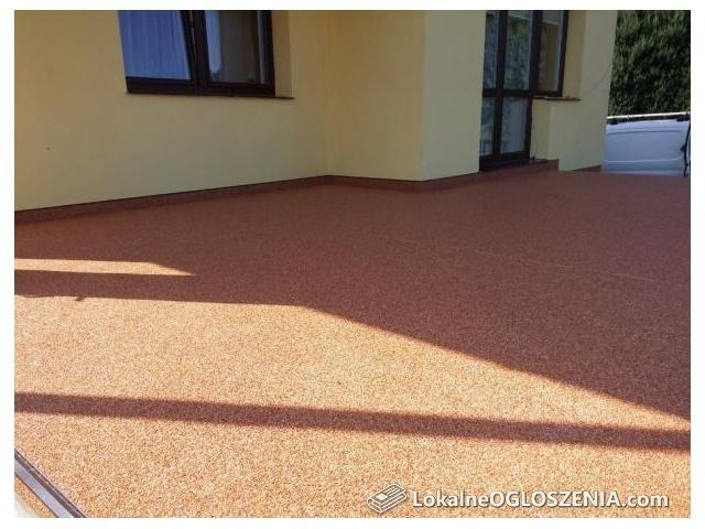 Kamienny dywan, balkon, schody, taras, renowacja, wykończenie.