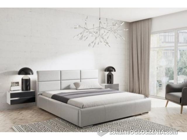 Łóżko tapicerowane 160x200 + stelaż + pojemnik na pościel