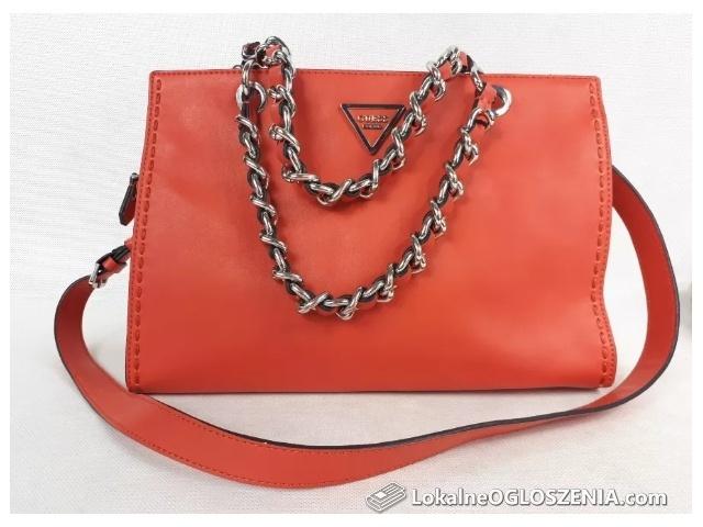 Nowa torebka GUESS czerwona rumba elegancka koktajlowa HIT