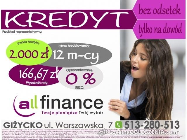 All Finance Giżycko - kredyty, pożyczki, ubezpieczenia