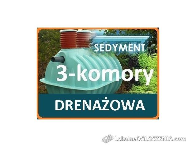 3-komorowa przydomowa oczyszczalnia ścieków drenażowa SEDYMENT 1-4os