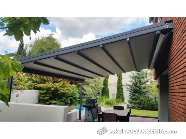 Pergola patio weranda aluminiowa automatyczna dach wodoszczelny ocel