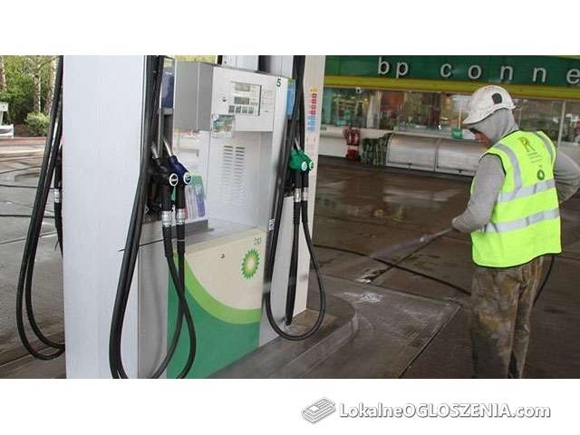 Czyszczenie mycie stacji benzynowych stacji paliw