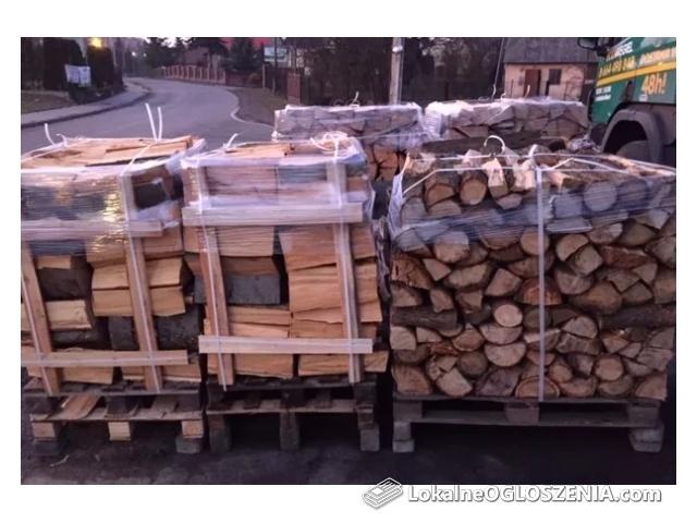 Drewno kominkowe OPAŁOWE+Paleta+Transport HDS!!! Buk-Grab-Dąb-Sosna