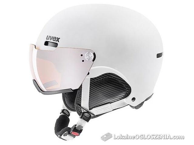 Kask narciarski UVEX hlmt 500 visor white mat rozm. 59-62 cm