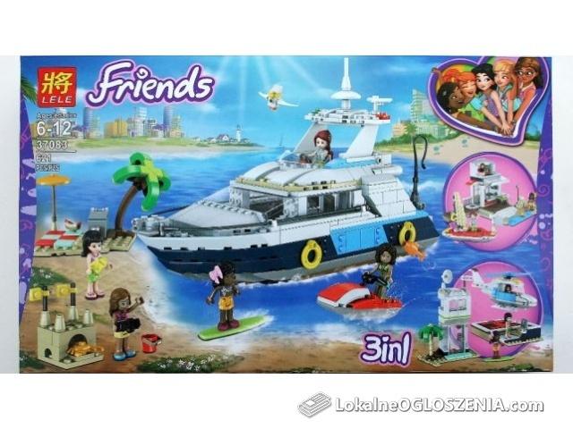 Klocki friends jakość lego Creator-31083 jacht 3w1wyprzedaż