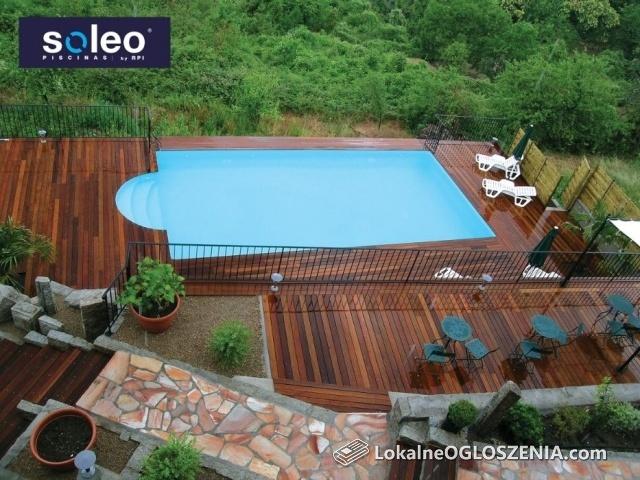 Basen ogrodowy SOLEO model SANTIAGO 6m x 3m x 1,0 -1,40 m