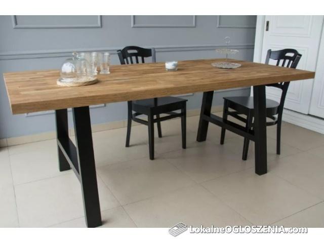 Stół Dębowy * Loft * cały lite drewno, czarny, vintage PROMOCJA !!!