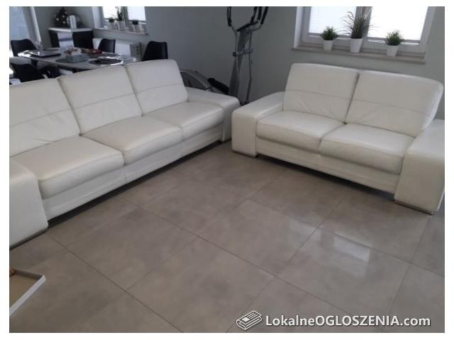 Sofa skorzana biala Firmy Bugajski Meble