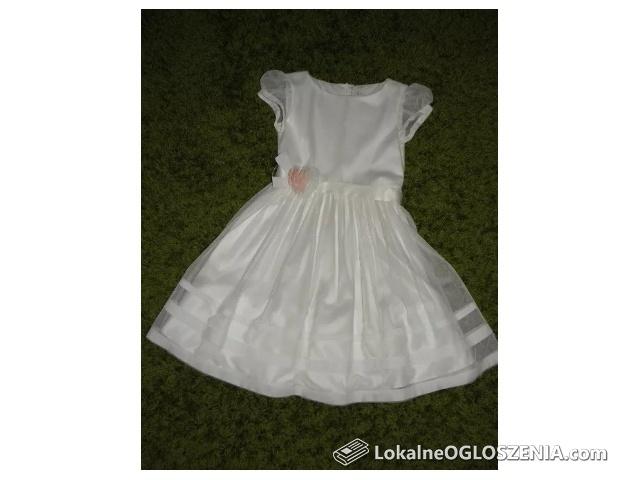 Sukienka Komunijna i Pokomunijna Ecru + bolerko 146