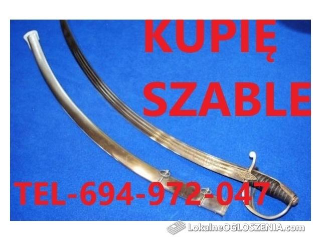 KUPIE SZABLE,BAGNETY,KORDZIKI,NOŻE STARE WOJSKOWE 694-972-047