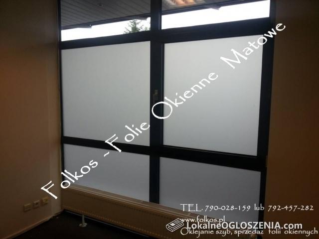 Oklejanie szyb- Folie matowe i dekoracyjne Folkos- Folie na okna, drzwi, balkony,witryny sklepowe....