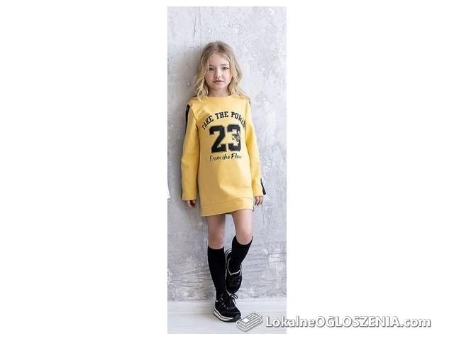 Tunika sukienka 92/98 All For Kids miodowa żółta