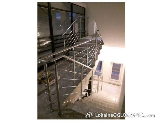 Balustrady ze stali nierdzewnej (balkon schody poręcze daszki szklane)
