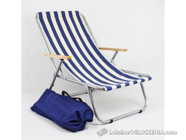 Leżak plażowy składany do torby, aluminiowy MAX 150 KG