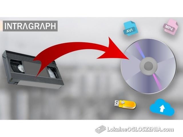 Przegrywanie VHS VHS-C miniDV HDV na DVD  lub USB