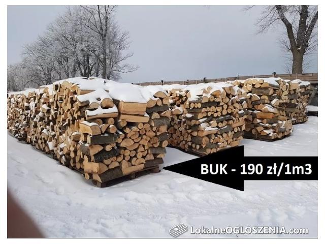 BUK - drewno do kominka, drzewo kominkowe, TRANSPORT GRATIS