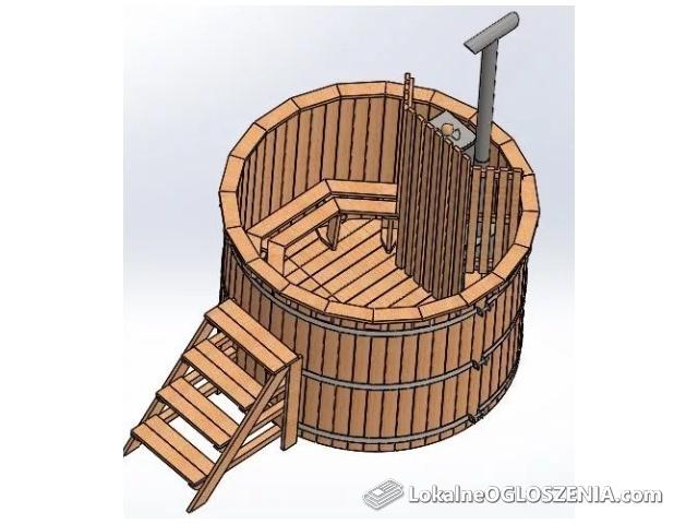 Gorąca Beczka BALIA Ogrodowa Ruska Bania Beczka Kąpielowa Hot Tub plan