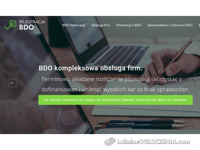 Rejestracja przedsiębiorstwa - BDO