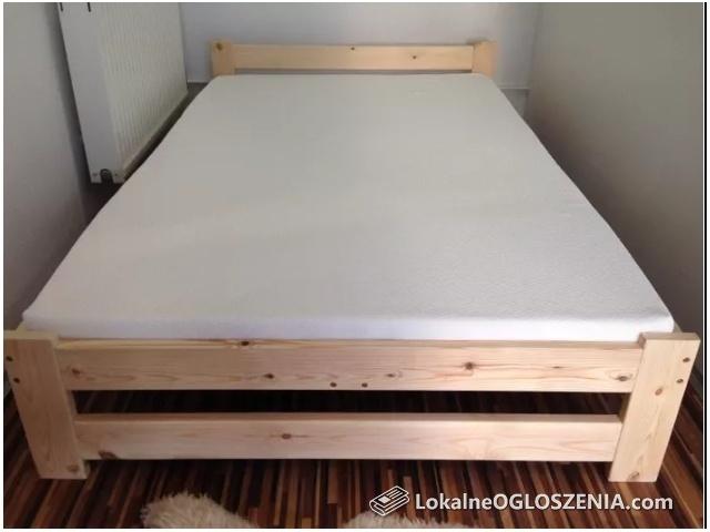 Łóżko drewniane sosnowe, sypialniane 160x200 Materac+transport GRATIS