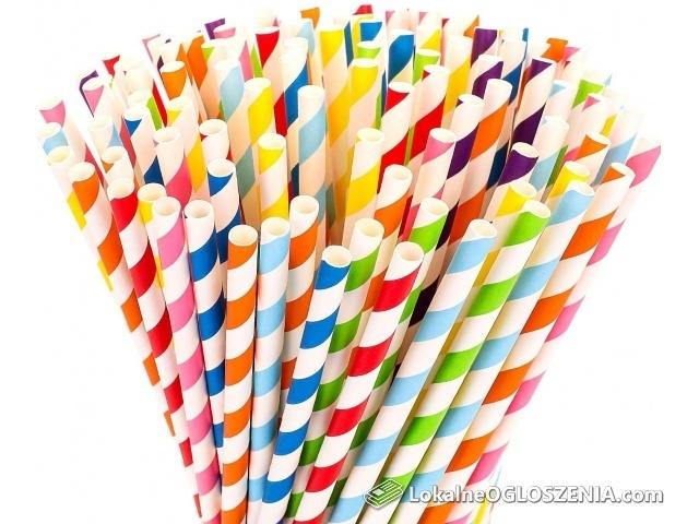 Ekologiczne słomki papierowe 250 szt