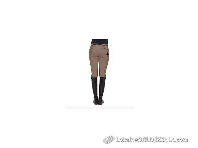 Bryczesy Spooks Vivia Knee, r. XL (42), beżowe, lej kolanowy