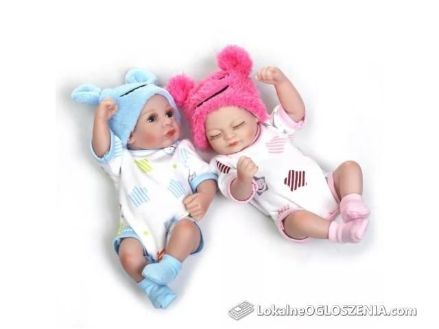 Lalka reborn OSTATNI DWUPAK bliźnięta 28 cm na PREZENT Świąteczny