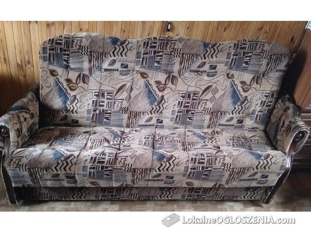 Kanapa, fotel i 4 krzesła
