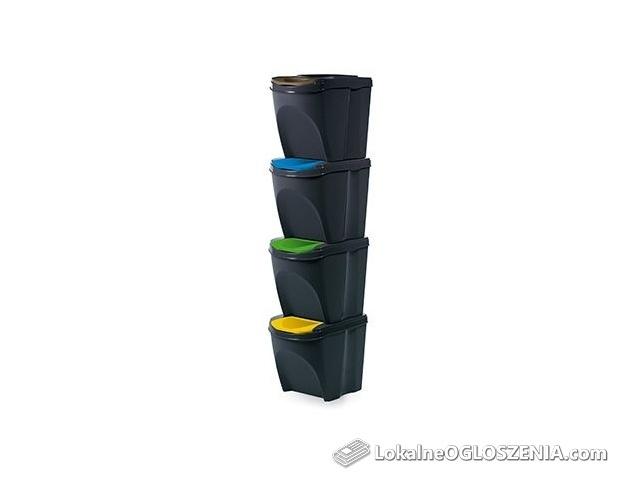 Kosz na odpady recykling SEGREGACJA 4 x 20L różne kolory