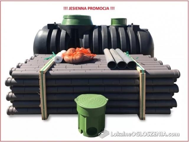 Dwukomorowa przydomowa oczyszczalnia ścieków 3000 L szambo
