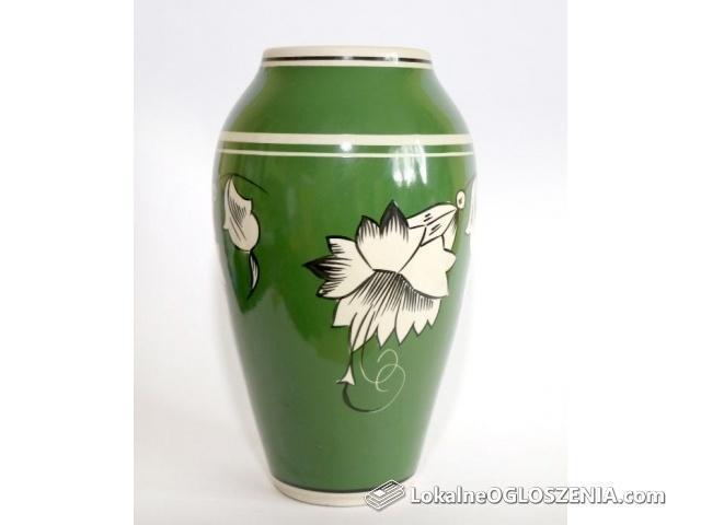 Wazon Chodzież Lilie porcelana ręcznie malowany PRL antyki vintage