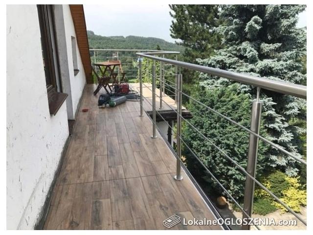 Balustrada ze stali nierdzewnej juz od 260 zł/mb balkony schody