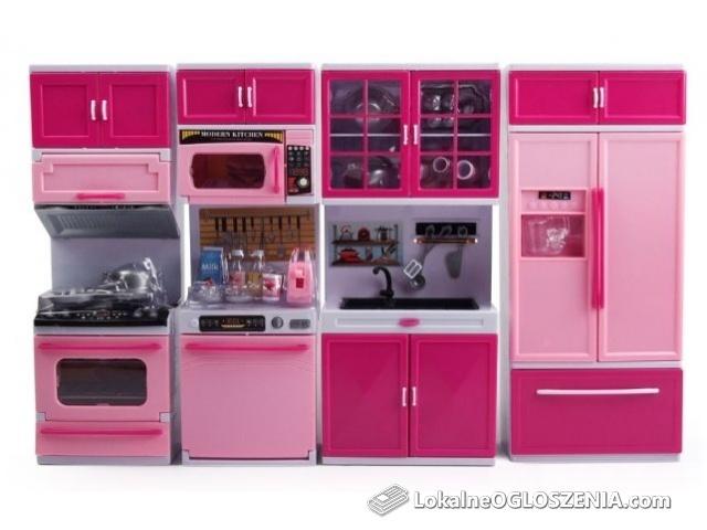 PROMOCJA !!! KUCHNIA mebelki Barbie 4 moduły ŚWIATŁO akcesoria EduCORE