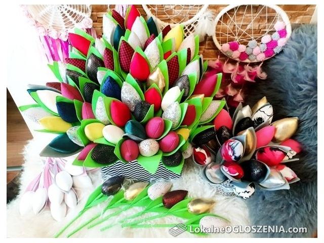 Szyte tulipany * Walentynki, Dzień Kobiet,na prezent