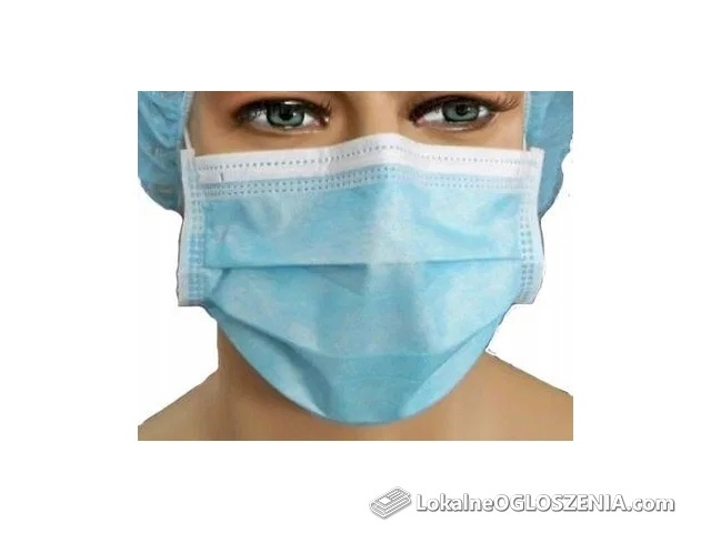 Maseczki higieniczne chirurgiczne antywirusowe.