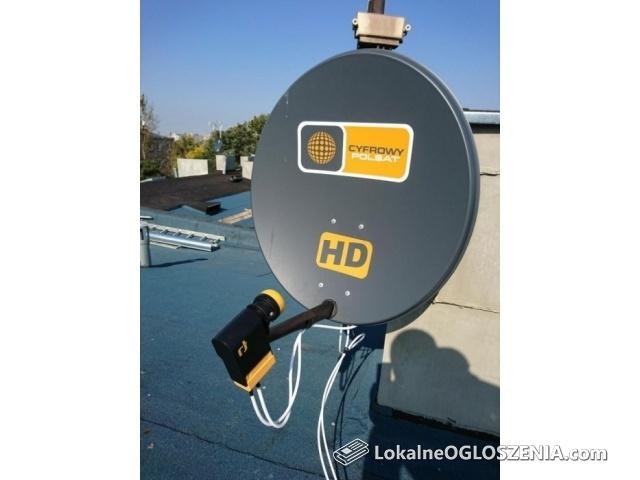 Montaz ustawienie naprawa anten satelitarnych i DVB-T