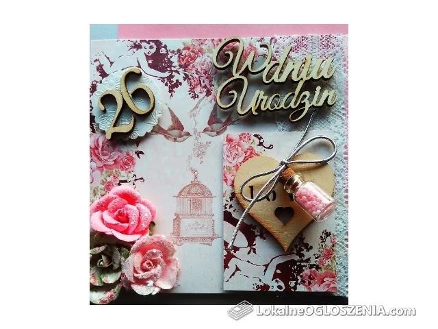 Kartki urodzinowe,ślubne,Zaproszenia