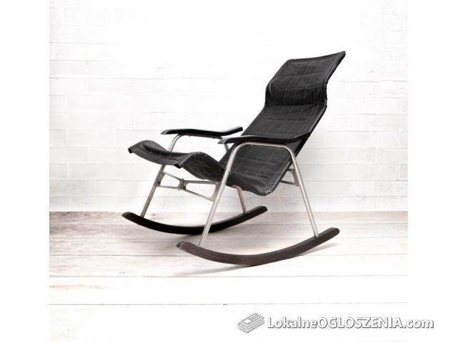 Składany Fotel bujany krzesło Takeshi Nii PRL DESIGN DOSKONAŁY STAN