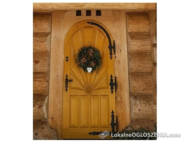 Drzwi drewniane zewnetrzne, wewnetrzne, goralskie, wejsciowe