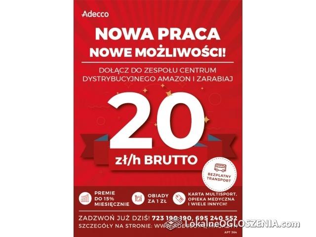 Magazynier/ka – 20 zł/h +premie! Darmowy dojazd!