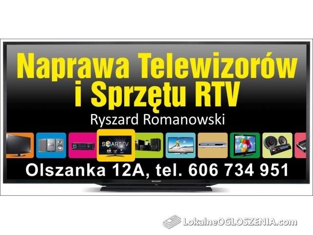 NAPRAWA TELEWIZORÓW LCD, LED, PLAZMA, MONTAŻ ANTEN SATELITARNYCH I NAZIEMNYCH