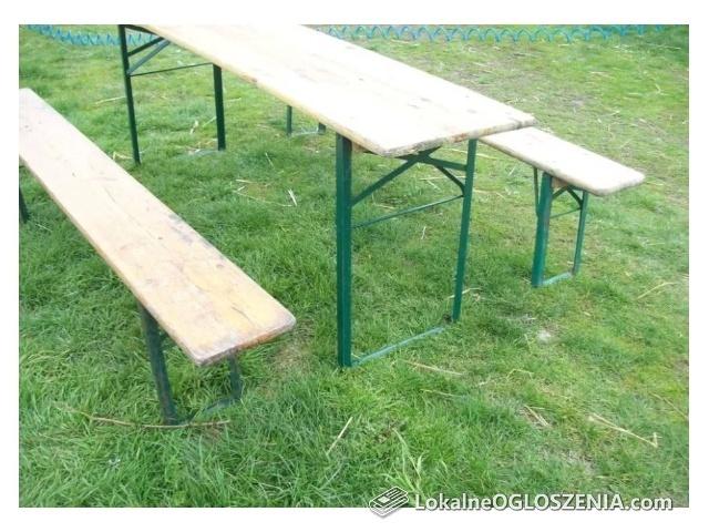 Komplet dożynkowy festynowy stół plus dwie ławki