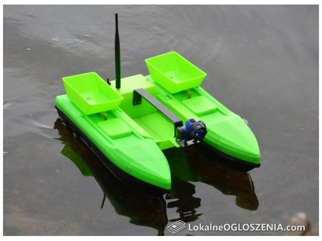 Łódź zanętowa łódka 3 komory katamaran 2 kg ładowność zasięg 500 m