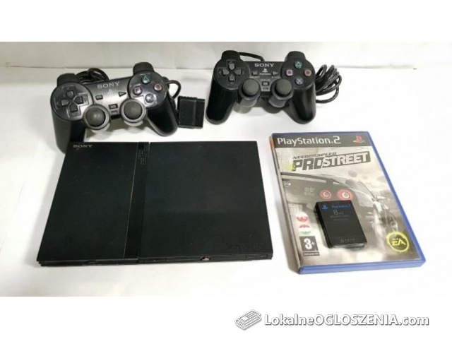 Konsola Sony PS2 + 2 pady + Gra + Karta