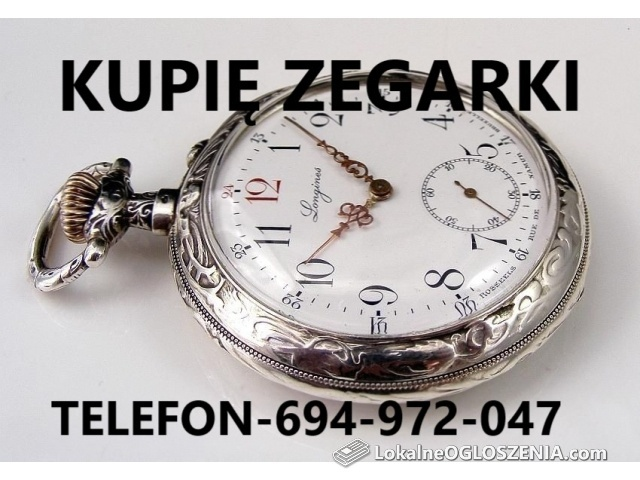 KUPIĘ ZEGARKI KIESZONKOWE ORAZ MĘSKIE NARĘCZNE NAKRĘCANE TELEFON 694-972-047