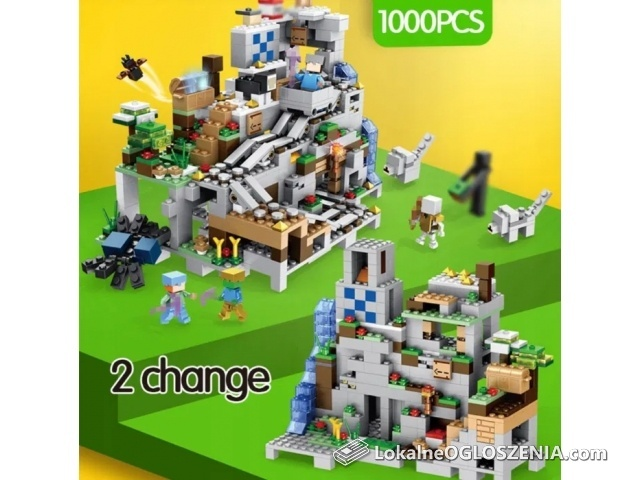 NOWA Jaskinia Górska Pociąg Minecraft kompatybilne z Lego Klocki